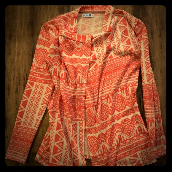Women's pink pattern thin over sweater